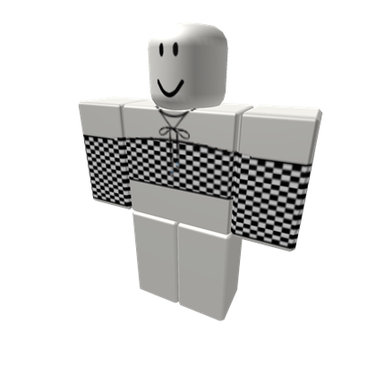 Shoulderless Checkered Crop Top W Black Choke Roblox Foto De