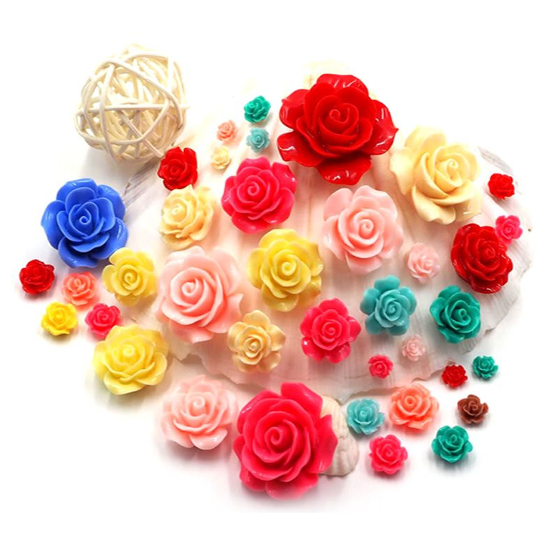 6mm Nailart 3D Nail Charms Rose Flowers 3D Nail Art Flowers ...
