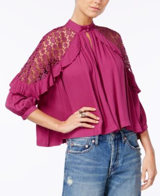 cc731ce99c7 FREE PEOPLE Free People Little Bit Of Love Crochet-Trim Top. #freepeople  #cloth # tops