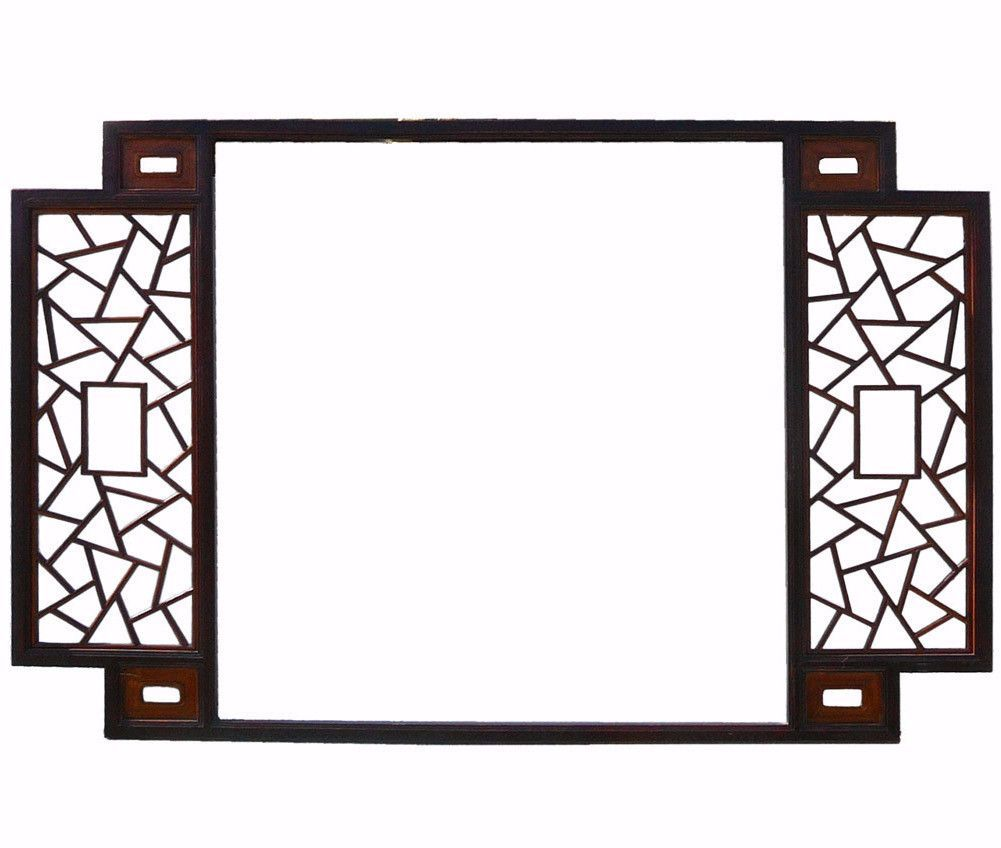 Chinese two brown tone lettuce wall panel frame css lettuce and