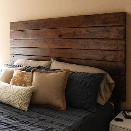 Go rustic with weathered wood planks for this simple yet ...