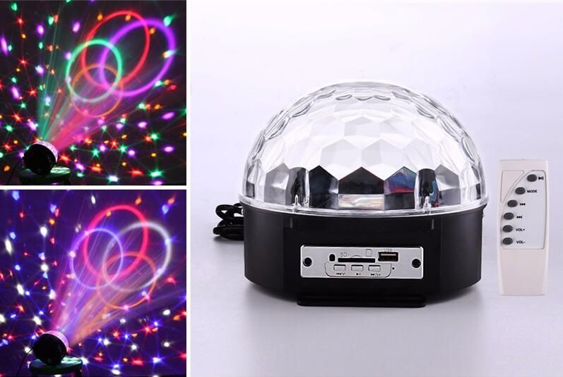 6 Colors Mini Rgb Mp3 Led Crystal Magic Ball Light And Music Ball Stage Effect Light With Usb Disk R Magic Ball Light Led Crystal Magic Ball Crystal Magic Ball