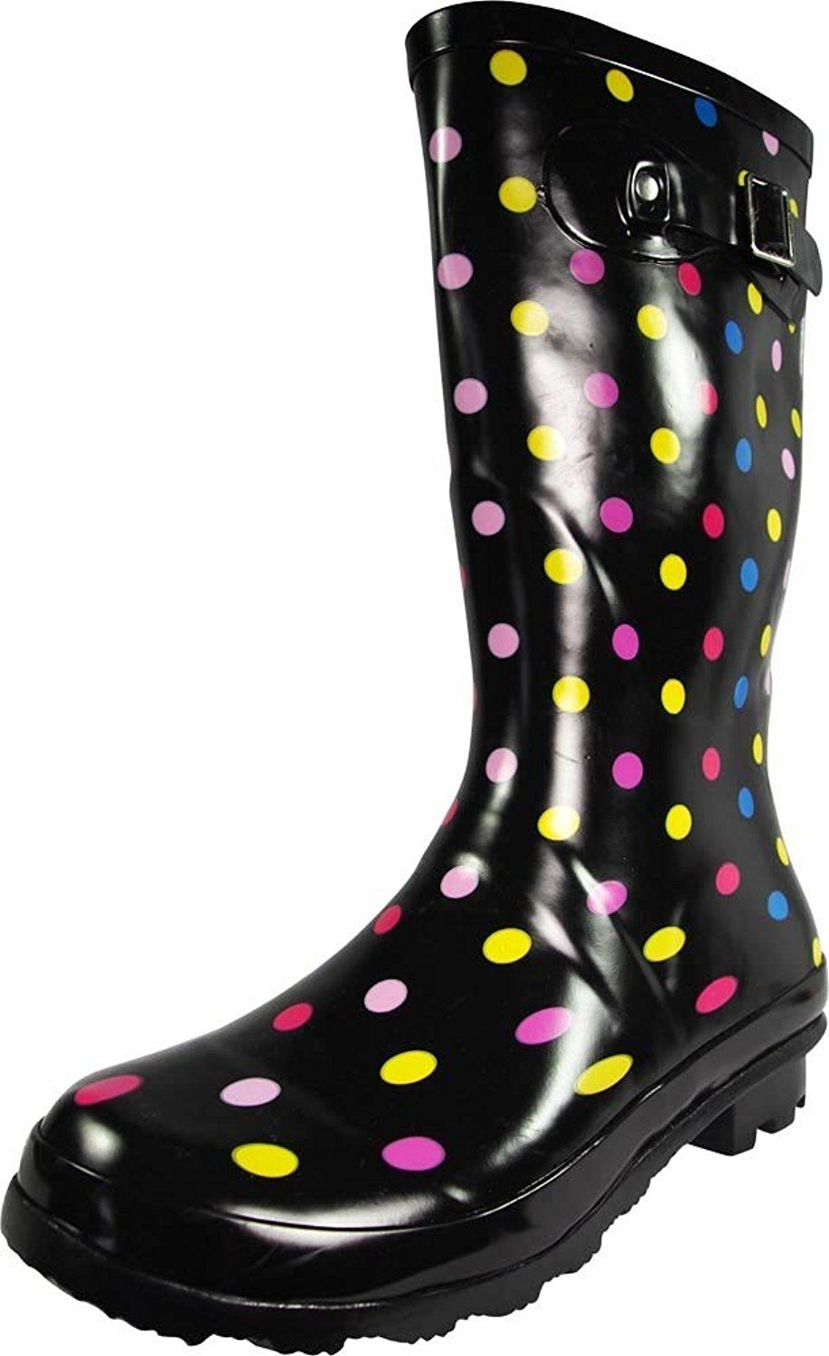 NORTY - Womens Hurricane Wellie Solid and Prints Gloss Mid-Calf Rainboot *** Want to know more, visit the site now : Ladies boots