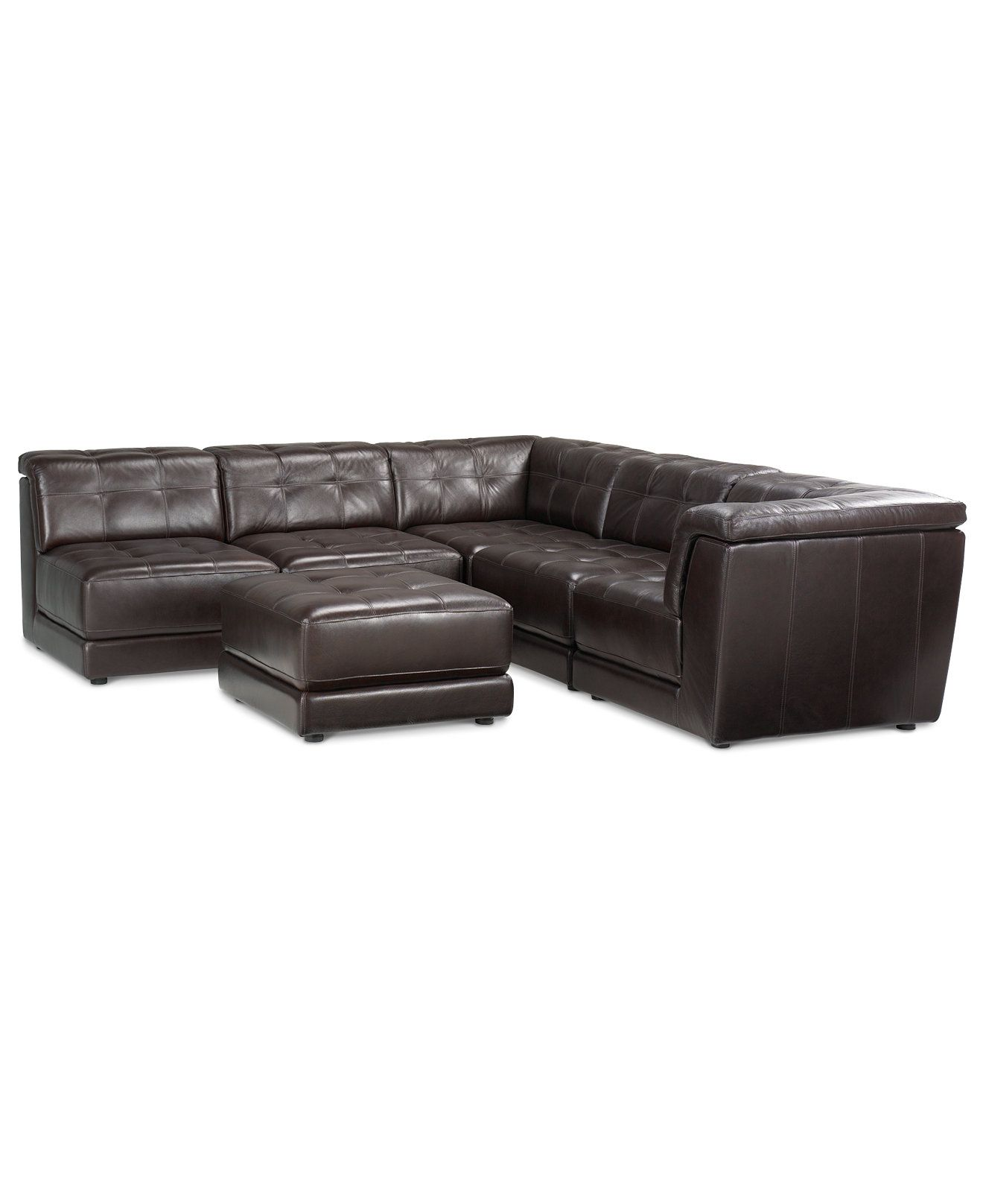 Stacey Leather 6 Piece Modular Sofa