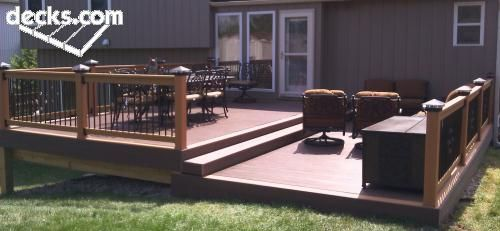 Bi Level Deck Designs | Not A Bad Option, Either....it May Be A Bi Level  Deck Anyway, To .