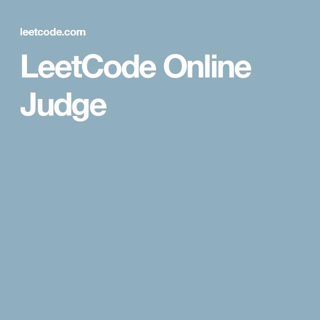 LeetCode Online Judge | Web Design | Web Design, Computer science