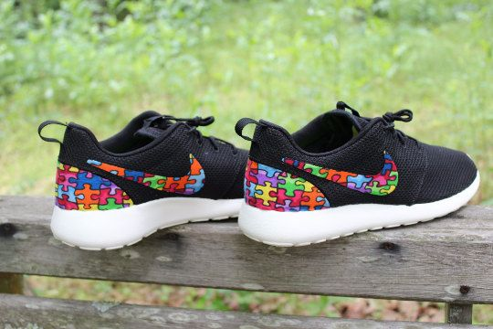 2f1e6f2d868c Autism Awareness Nike Roshe Run by GrabbKicks on Etsy. Hey ...