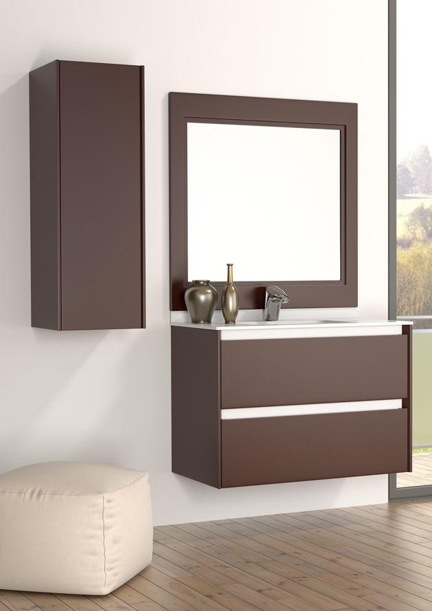 Modelo M10 Bisel laca efecto goma color marrón chocolate de Grupo ...