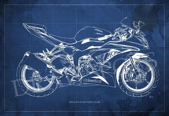 2016 kawasaki ninja zx 6r blueprint digitally printed on archival 2016 kawasaki ninja zx 6r blueprint digitally printed on archival matte paper professional quality 8x12in to 60x41in the watermark not appear in prints malvernweather Gallery
