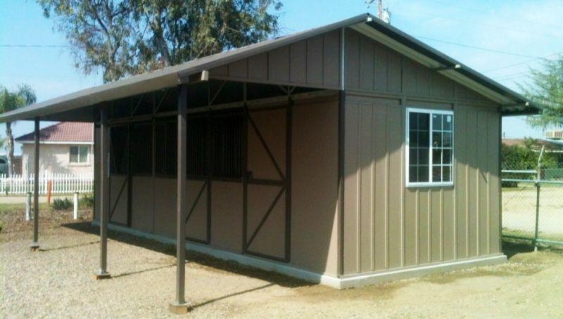 good 2 stall horse barn #9: Single Stall Horse Barn | Ring O Steel | California Horse Barns | Shed Row  Horse