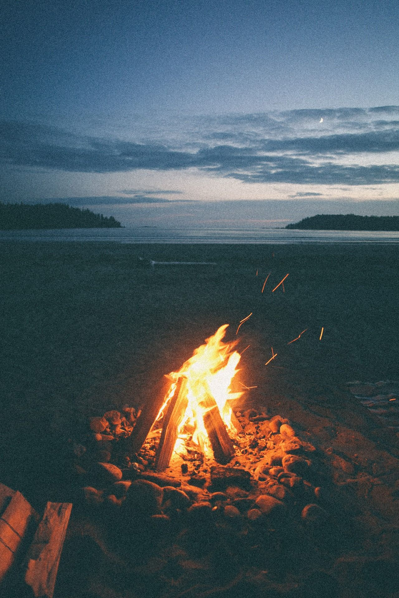 Life On An Island Beach Fire Good Times Outdoors Adventure