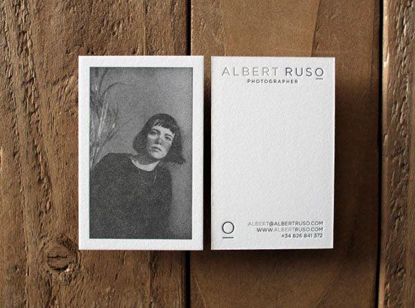Albert Ruso Photographer - Business Cards