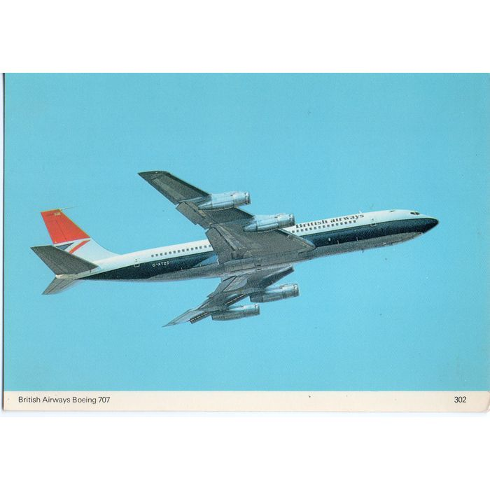Skilton's Postcard British Airways Boeing 707 Listing in the Air,Transportation,Postcards,Collectables Category on eBid United Kingdom | 148249517