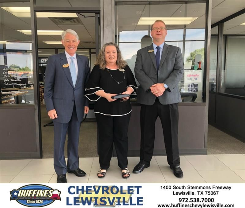 congratulations to huffines chevrolet team members greg sikes and karen mendez karen is celebrating her 15th year with the chevrolet new chevy chevy equinox karen mendez karen