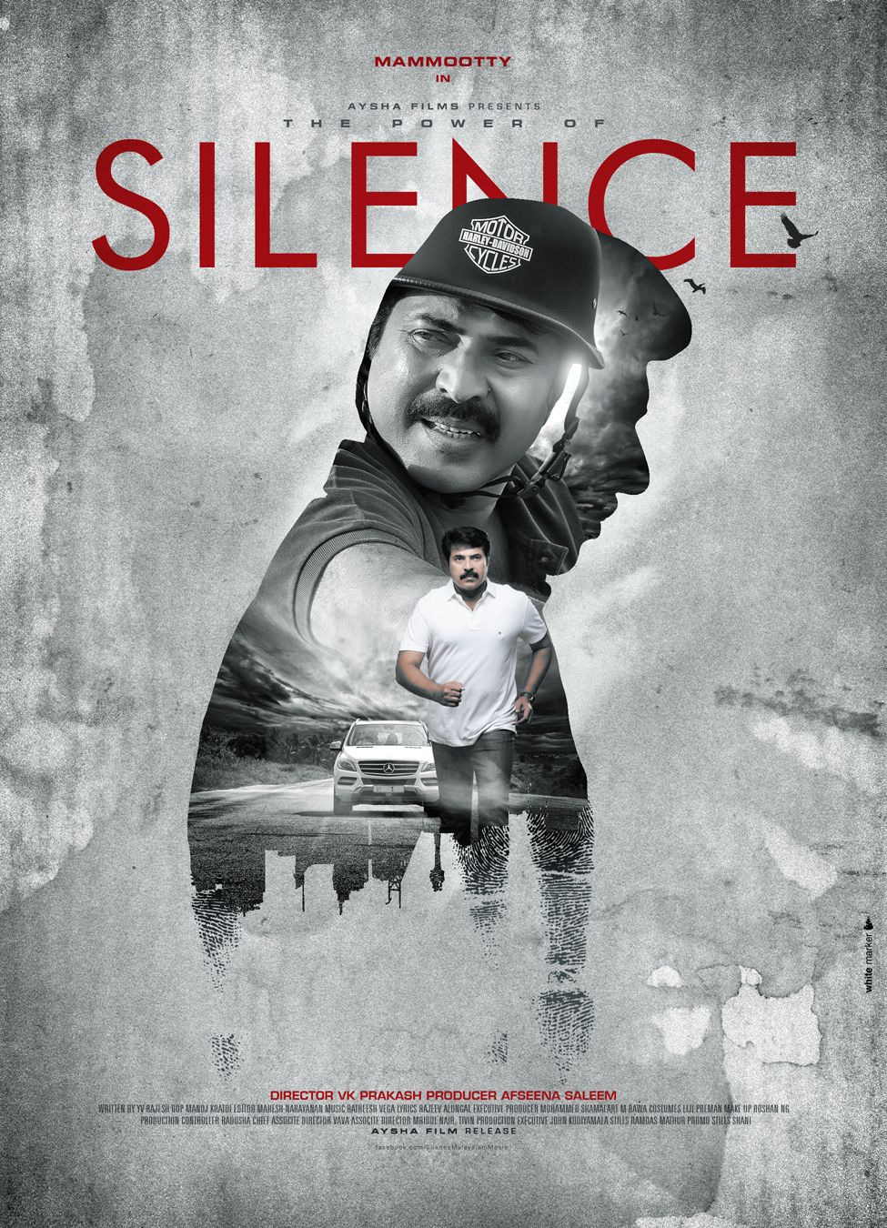 silence movie poster design by white marker movie poster