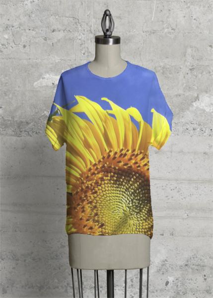 #Sunflower #Nature #Garden #Floral #VIDA @shopVIDA #kristadroop #Eye4Dogs #Unique #Original #Texture #Textile #Apparel #Pattern #Photographer #DigitalArt #WearableArt #Blouse