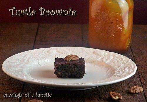 Ultimate Turtle Brownies #turtlebrownies