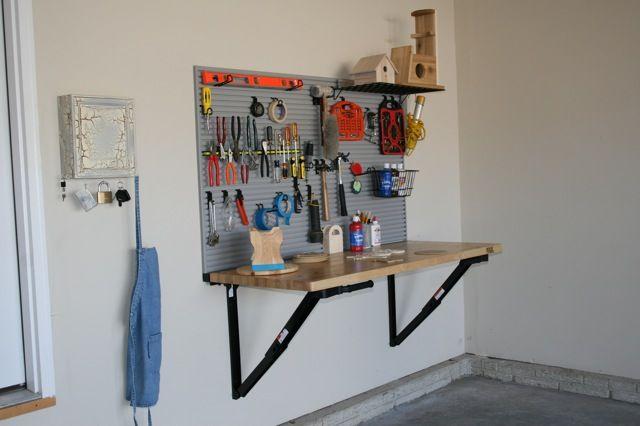 Diy garage space saving idea bench solution the fold - Space saving ideas for garage ...