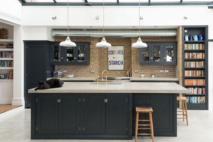 ▷ 1001 + ideas de decoración de cocina americana | Armario pintado ...