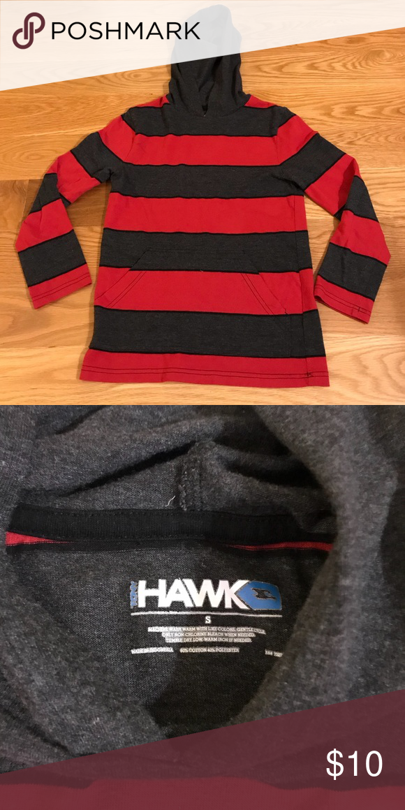 fddfa4289 Tony Hawk Hoodie T-shirt 🏂 Size small red and black hoodie long sleeve T- shirt. Only worn once!! Perfect shape! Hawk Shirts   Tops Tees - Long Sleeve