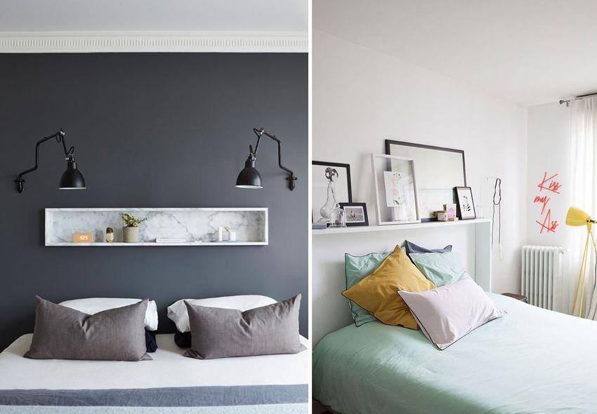 tete de lit etagere mademoiselle lcaudine deco idee. Black Bedroom Furniture Sets. Home Design Ideas