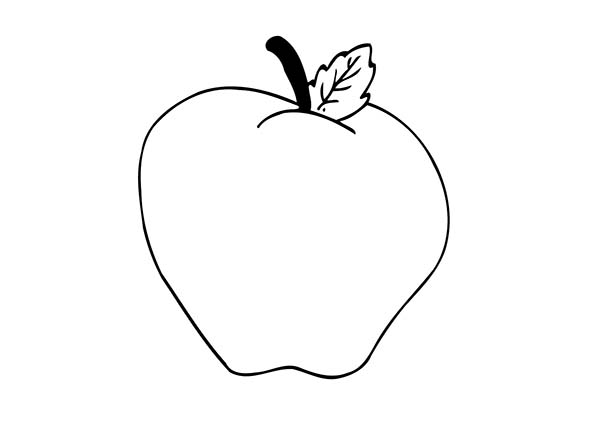 Apple Is Also Rich With Vitamin C Coloring Page Coloring Sky Toddler Coloring Book Apple Coloring Pages Coloring Books