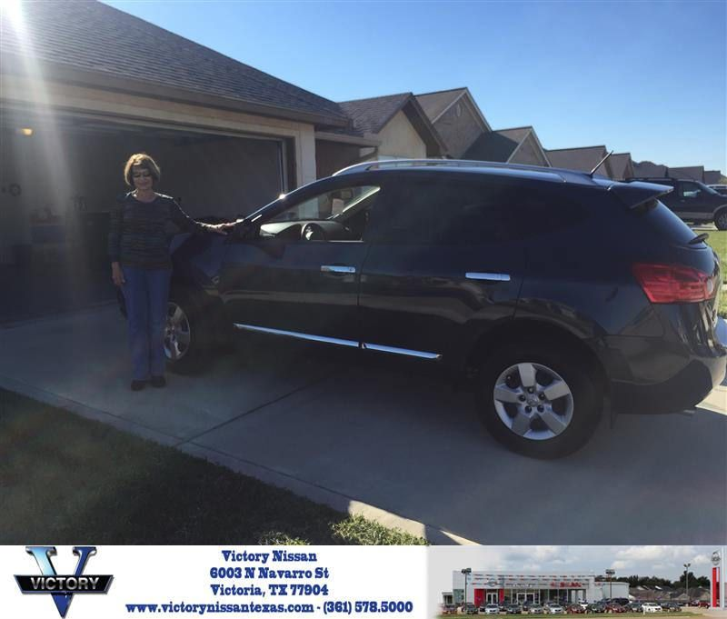 Victory Nissan Victoria Tx >> Congratulations Nancy On Your Nissan Rogue Select From