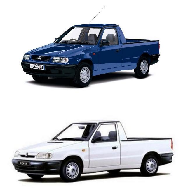 Volkswagen Caddy Top Skoda Felicia Pickup Bottom Carros Pequenos Auto Carros