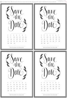 free save the date printable wedding invitations pinterest