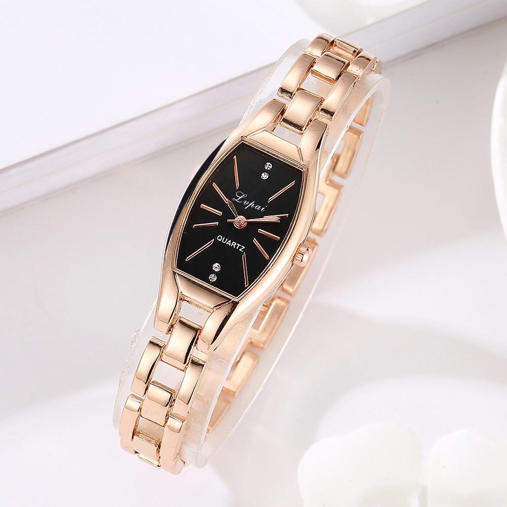 032837eefe5 Fashion Ladies Women Unisex Stainless Steel Rhinestone Quartz Wrist Watch