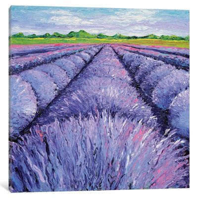 """Lark Manor Lavender Breeze Panel 2 Painting Print on Wrapped Canvas Size: 37"""" H x 37"""" W x 0.75"""" D"""