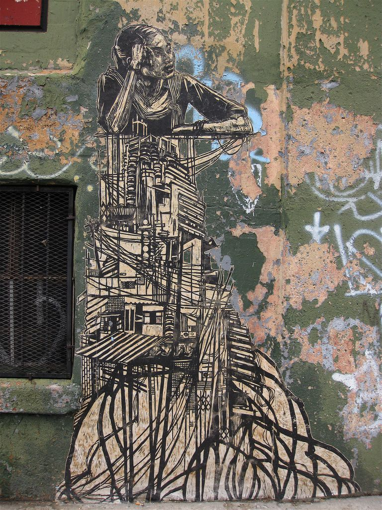 Do you like it? We love it!!! Poster on wall by #Swoon in #NewYorkCity (NY) #USA