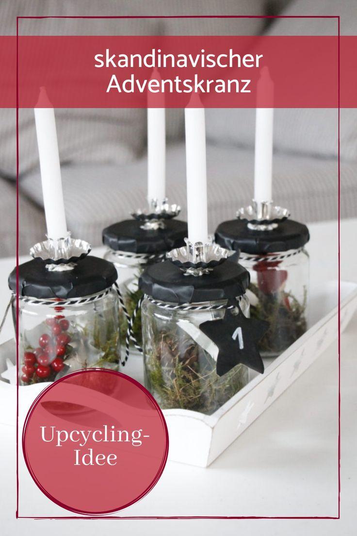 skandinavischer adventskranz im glas wohlf hlwinter. Black Bedroom Furniture Sets. Home Design Ideas