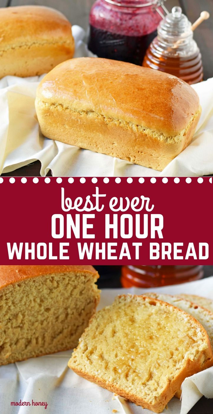 Best Homemade One Hour Whole Wheat Bread Easy Homemade Bread Made