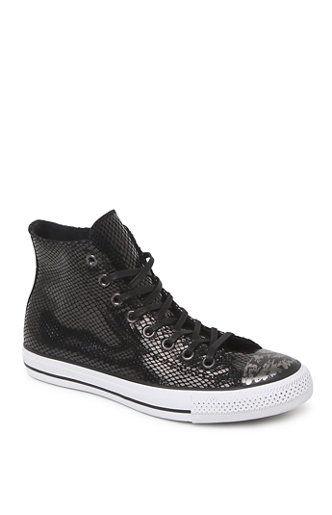 625a59d66a52 Converse Hi Top Snake Leather Sneakers Sku   2385235 A PacSun.com Online  Exclusive! The women s Hi Top Snake Leather Sneakers by Converse offer a  shiny ...