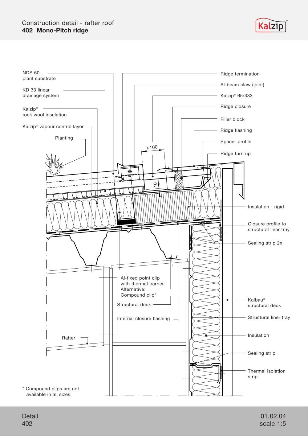 Kalzip Construction Details Archiexpo Rock Wool Insulation Detail Construction