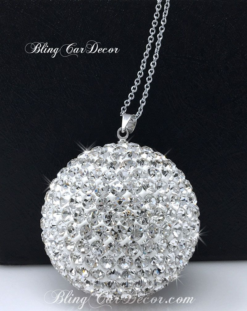 Crystal Ball Rear View Mirror Charms Car Car Accessories Bling