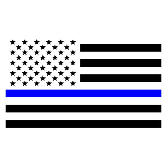 Thin Blue Line American Flag, Law Enforcement Car, Window ...