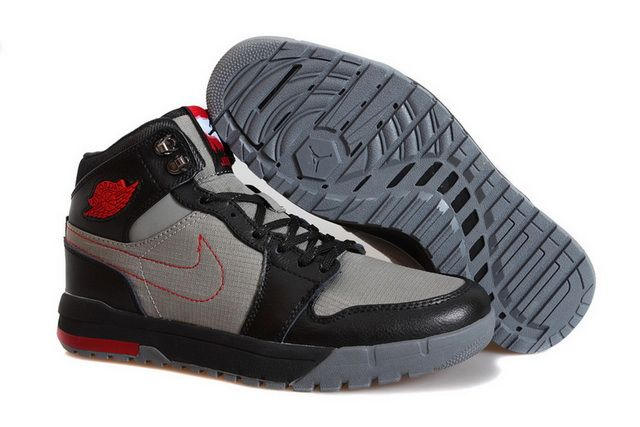 best cheap 52021 a8685 Low Price Air Jordan 1 Trek Cool Grey Gym Red Black 616344 004 On sale