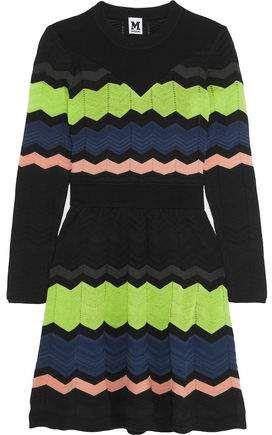 ef14ea500008e4 M Missoni Striped Crochet-knit Mini Dress | Products in 2019 ...
