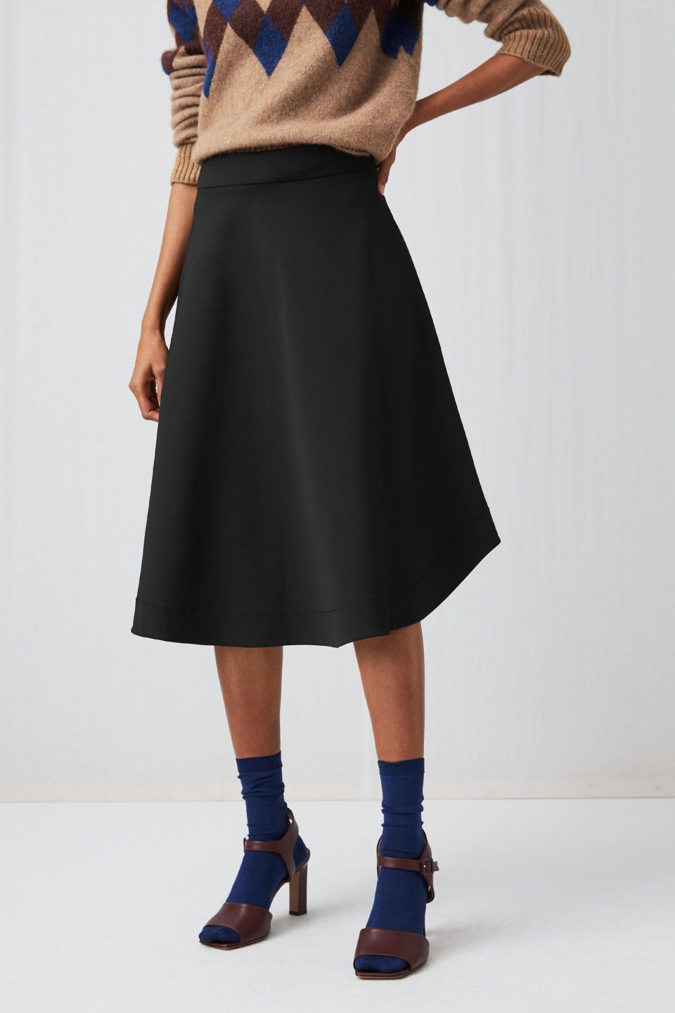 0f648d3bd752 Heavy Cotton A-line Skirt | Perfect black skirt | Skirts, A line ...