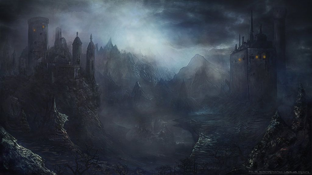 Dark fantasy landscape concept by FPesantez on DeviantArt ...
