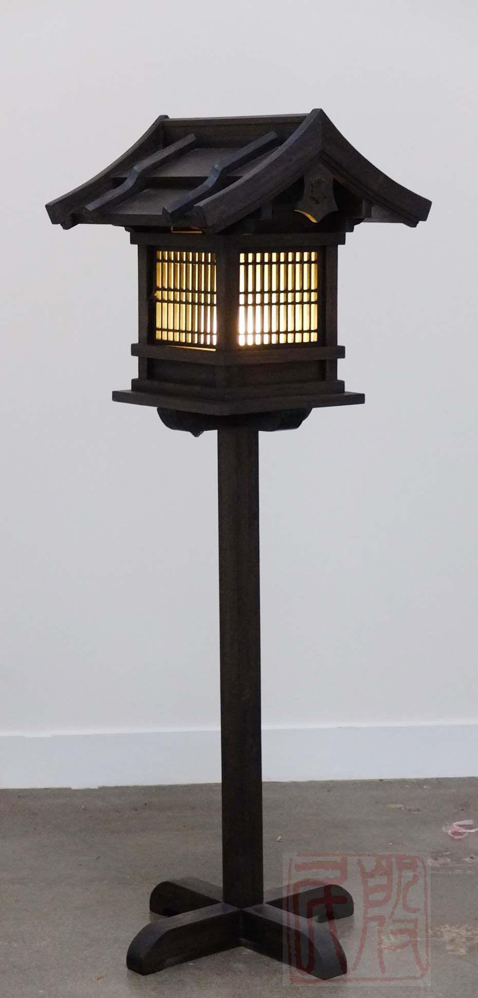 Japanese Wooden Lantern Outdoor WL2 Japanese Wooden