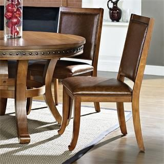 Steve Silver Ab480s Ashbrook Side Chair In Oak Set Of 2