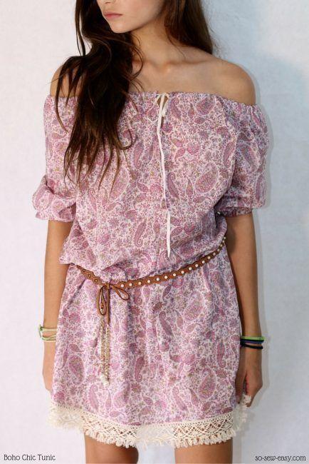Boho Chic Tunic Free Pattern Plus Tutorial Free Sewing Patterns