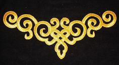 Details about metallic gold embroidery patch lace applique motif venise irish dance costume