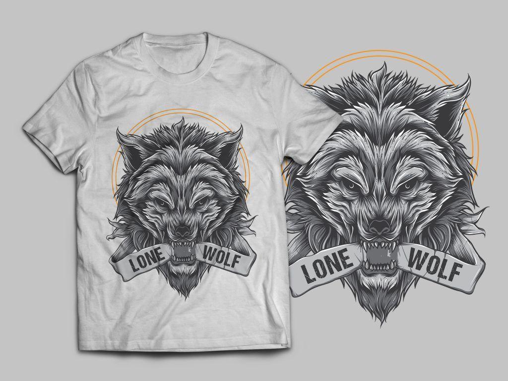 0d213dac4 Lone Wolf T-Shirt Design buy t shirt design   Tshirt designs   Wolf ...