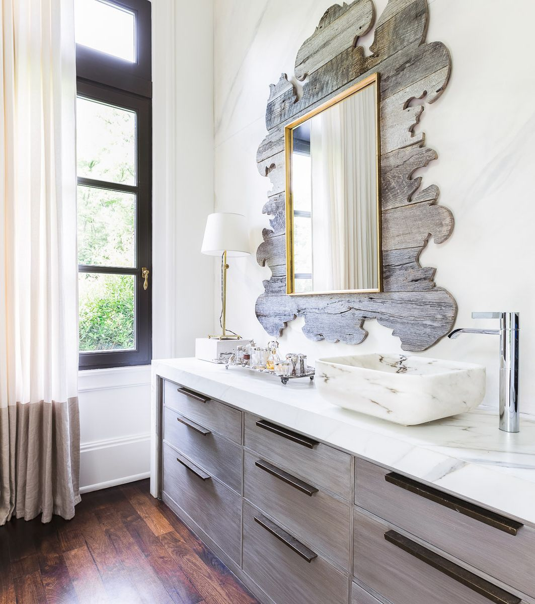 Rustic glam bathroom by Chad James | Interiors: Bathrooms ...