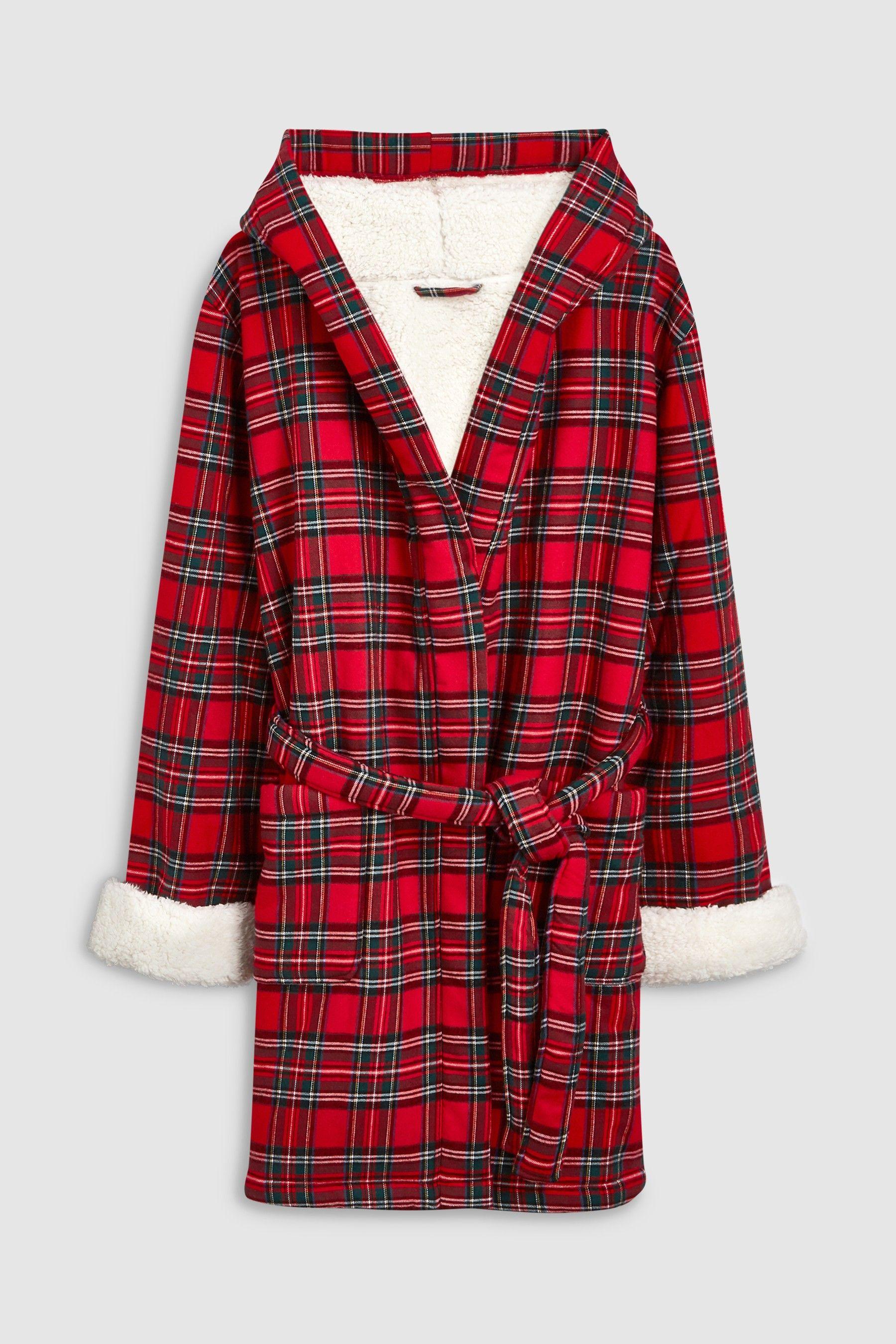 732650c8f63219 Womens Next Red Tartan Robe - Red | Products | Plaid, Mens tops, Tartan