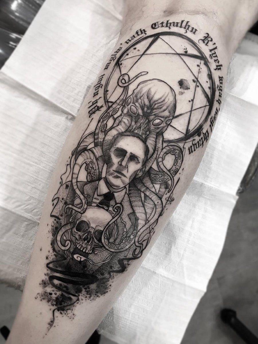 Ramon On Twitter Cthulhu Tattoo Tattoos Geek Tattoo